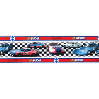 8 in x 15 ft Prepasted Wallpaper Borders - Cars Wall Paper Border 43002