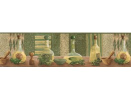 Prepasted Wallpaper Borders - Kitchen Wall Paper Border KLM43012B