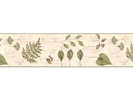 Prepasted Wallpaper Borders - Leafs Wall Paper Border KLM43028B