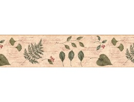 Prepasted Wallpaper Borders - Leafs Wall Paper Border KLM43029B