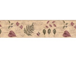 Prepasted Wallpaper Borders - Leafs Wall Paper Border KLM43030B