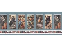 9 in x 15 ft Prepasted Wallpaper Borders - Birds Wall Paper Border SH4331B