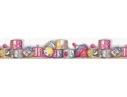 Prepasted Wallpaper Borders - Kids Wall Paper Border BR4419B