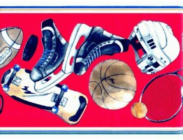 Sports Wallpaper Border P473024