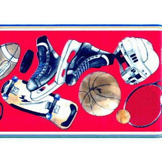 8 1/2 in x 15 ft Prepasted Wallpaper Borders - Sports Wall Paper Border P473024