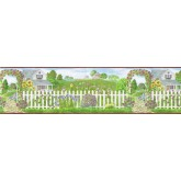 Clearance: Garden Wallpaper Border b48012