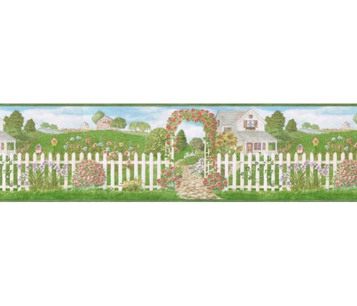 Clearance: Garden Wallpaper Border 48013