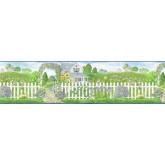 Clearance: Garden Wallpaper Border b48014