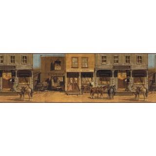 9 in x 15 ft Prepasted Wallpaper Borders - Horses Wall Paper Border EL49001B