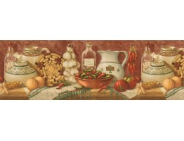 Prepasted Wallpaper Borders - Kitchen Wall Paper Border EL49010B