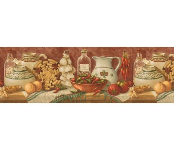 Clearance: Kitchen Wallpaper Border EL49010B