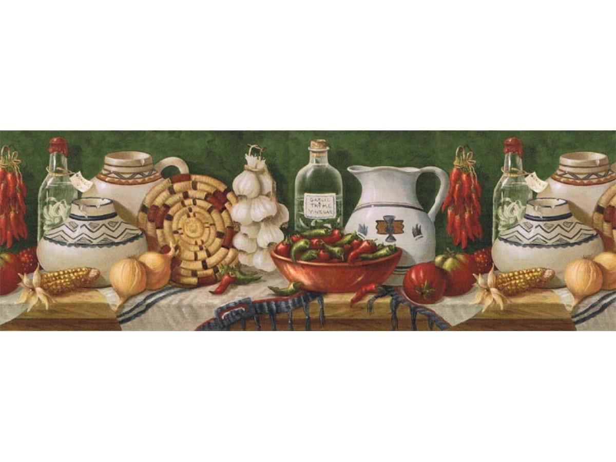 Kitchen Wallpaper Border El49011b