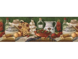 Prepasted Wallpaper Borders - Kitchen Wall Paper Border EL49011B