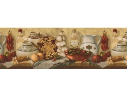 Kitchen Wallpaper Border EL49012B