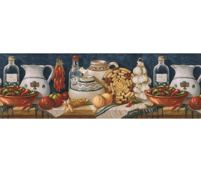 Kitchen Wallpaper Borders: Kitchen Wallpaper Border EL49013B
