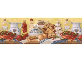 9 in x 15 ft Prepasted Wallpaper Borders - Kitchen Wall Paper Border EL49014B