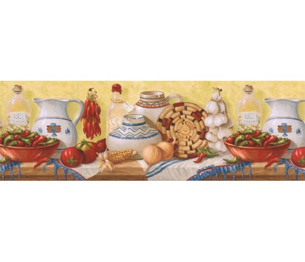 Kitchen Wallpaper Borders: Kitchen Wallpaper Border EL49014B