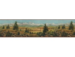 Prepasted Wallpaper Borders - Country Wall Paper Border EL49019B