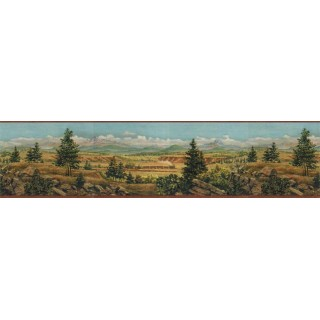 6 7/8 in x 15 ft Prepasted Wallpaper Borders - Country Wall Paper Border EL49019B