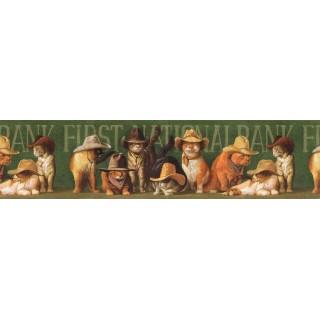 6 7/8 in x 15 ft Prepasted Wallpaper Borders - Cats Wall Paper Border EL49029B