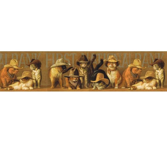 Cats Wallpaper Borders: Cats Wallpaper Border EL49030B