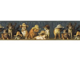 Prepasted Wallpaper Borders - Cats Wall Paper Border EL49031B