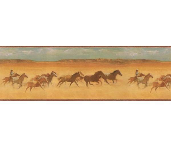 Clearance: Horses Wallpaper Border EL49046B