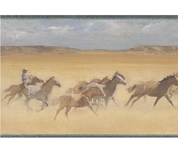Horses Wallpaper Borders: Horses Wallpaper Border EL49047B