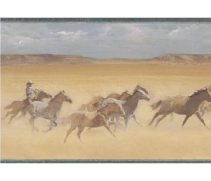 Horses Wallpaper Borders: Horses Wallpaper Border EL49047B