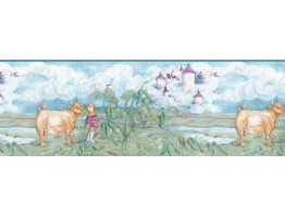 10 1/4 in x 15 ft Animals Wallapaper Border B4919