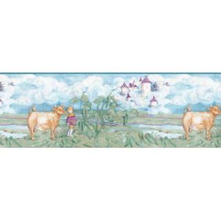 10 1/4 in x 15 ft Animals Wallapaper Border B4919
