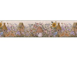 Birds House Wallpaper Border B49509