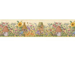 Birds House Wallpaper Border B49510