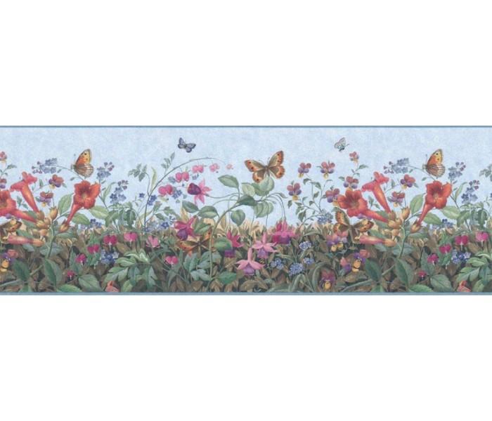 Floral Wallpaper Borders: Floral Wallpaper Border B49516
