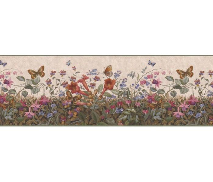 Floral Wallpaper Borders: Floral Wallpaper Border B49517