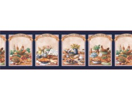Prepasted Wallpaper Borders - Kitchen Wall Paper Border B49529