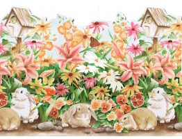 Prepasted Wallpaper Borders - Rabbits Wall Paper Border B50002