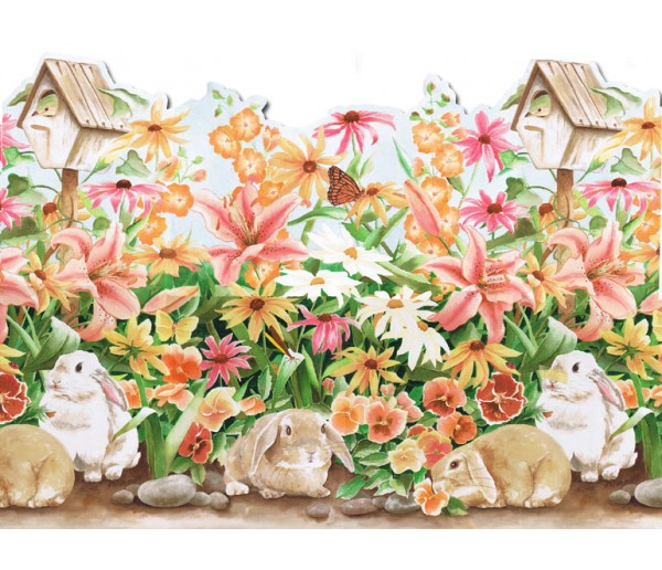 Rabbits Wallpaper Borders: Rabbits Wallpaper Border B50002