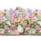 Rabbits Wallpaper Borders: Rabbits Wallpaper Border B50004