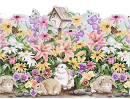 Prepasted Wallpaper Borders - Rabbits Wall Paper Border B50004