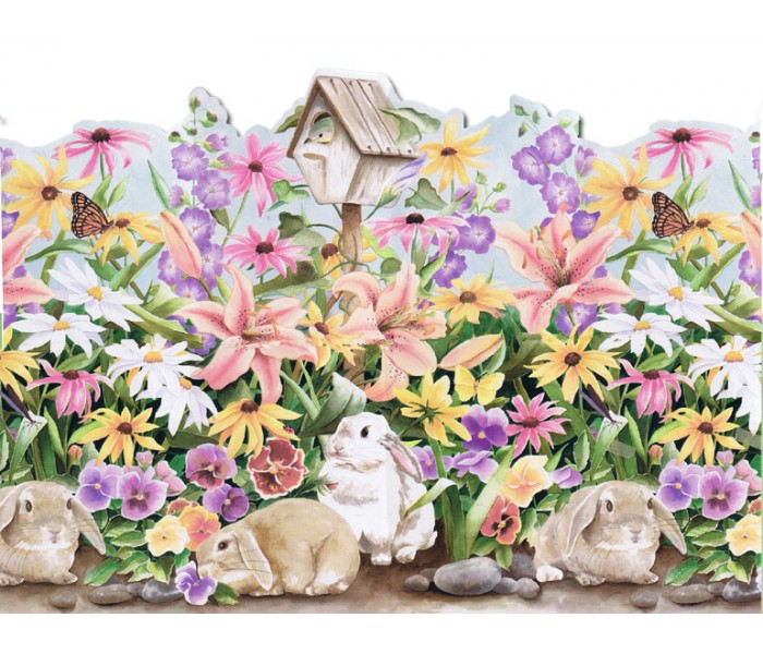 Rabbits Wallpaper Borders: Rabbits Wallpaper Border B50004