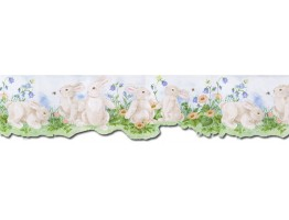 Prepasted Wallpaper Borders - Rabbits Wall Paper Border B50026