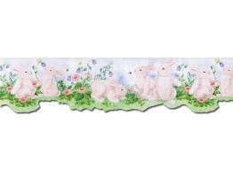 Prepasted Wallpaper Borders - Rabbits Wall Paper Border B50027