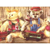 Toys Wallpaper Borders: Bears Wallpaper Border b50030
