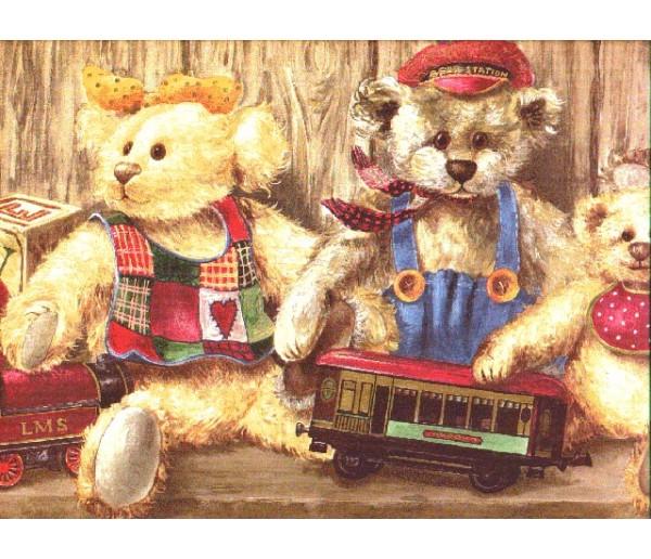 Toys Bears Wallpaper Border b50030 Linda McDonald, Inc.