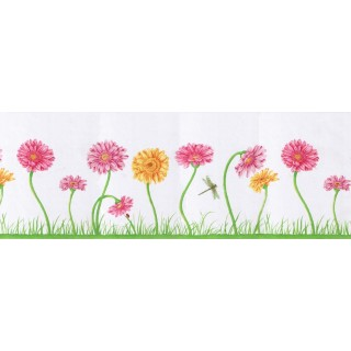 10 1/4 in x 15 ft Prepasted Wallpaper Borders - Floral Wall Paper Border B50035