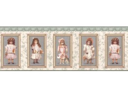 Prepasted Wallpaper Borders - Kids Wall Paper Border CL5082B