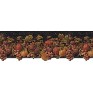 9 in x 15 ft Prepasted Wallpaper Borders - Fruits Wall Paper Border FF51001DB