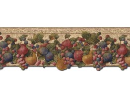 Prepasted Wallpaper Borders - Fruits Wall Paper Border FF51003DB