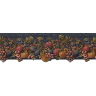 9 in x 15 ft Prepasted Wallpaper Borders - Fruits Wall Paper Border FF51004DB